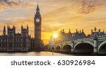 big ben and westminster bridge... | Shutterstock . vector #630926984