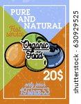 color vintage organic food... | Shutterstock .eps vector #630929525