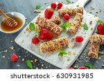 granola bar with strawberries ... | Shutterstock . vector #630931985