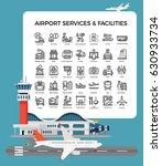 cool vector airport terminal... | Shutterstock .eps vector #630933734