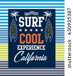 california surf cool experience ... | Shutterstock .eps vector #630935387