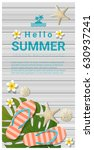hello summer background with... | Shutterstock .eps vector #630937241