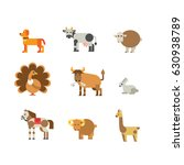 farm and domestic animals icon... | Shutterstock .eps vector #630938789