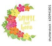 vector illustration hibiscus... | Shutterstock .eps vector #630941801