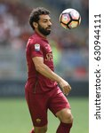 Small photo of 30.04.2017. Stadio Olimpico, Rome, Italy. Serie A. Roma versus Lazio.Salah in action during the match Serie A in olimpic stadium in Rome.