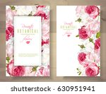 Stock vector vector vertical banners with garden roses and tulip flowers on white background romantic design 630951941