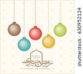 illustration of ramadan mubarak ... | Shutterstock .eps vector #630952124
