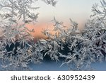 Frost Fern On A Window On A...