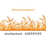 vector silhouette of wheat.... | Shutterstock .eps vector #630959195