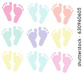 Pastel Coloured Baby Foot...