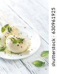 mozzarella with fresh basil... | Shutterstock . vector #630961925