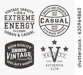 t shirt print design. set of... | Shutterstock .eps vector #630964865