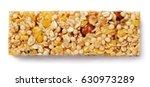top view of healthy granola bar ... | Shutterstock . vector #630973289