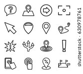 point icons set. set of 16... | Shutterstock .eps vector #630978761