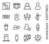 member icons set. set of 16... | Shutterstock .eps vector #630978821