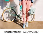 stylish girl in trendy pink... | Shutterstock . vector #630992807
