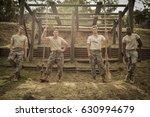 portrait of soldiers standing... | Shutterstock . vector #630994679