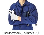 auto mechanic with tools on... | Shutterstock . vector #630995111