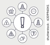 attention icons set. set of 9... | Shutterstock .eps vector #630996041