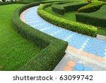 stone walkway in garden | Shutterstock . vector #63099742