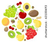 fruits and nuts set  raster... | Shutterstock . vector #63100693