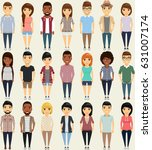 the set of twenty one person.... | Shutterstock .eps vector #631007174
