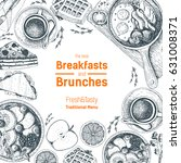 breakfasts and brunches top... | Shutterstock .eps vector #631008371