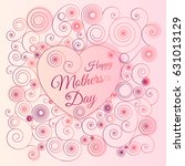 vintage happy mother's day... | Shutterstock .eps vector #631013129