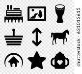 simple icons set. set of 9...