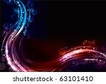 Abstract Neon Spectrum Light...