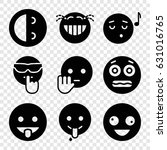set of 9 laugh filled icons...   Shutterstock .eps vector #631016765
