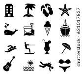 beach  resort and summer...   Shutterstock .eps vector #631017827
