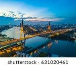beautiful sunset view from a... | Shutterstock . vector #631020461