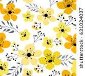spring flowers seamless pattern ...   Shutterstock .eps vector #631024037