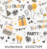 colorful birthday party... | Shutterstock .eps vector #631027439