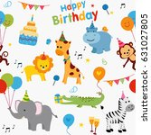 colorful birthday party... | Shutterstock .eps vector #631027805