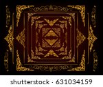 borders vector design  golden... | Shutterstock .eps vector #631034159