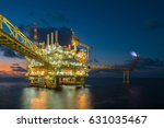 offshore oil and gas central... | Shutterstock . vector #631035467