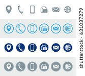 vector contact information icons | Shutterstock .eps vector #631037279
