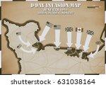 original hand drawn map. extent ... | Shutterstock . vector #631038164