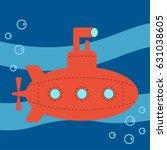 submarine | Shutterstock .eps vector #631038605