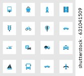 transport colorful icons set.... | Shutterstock .eps vector #631041509