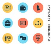 business icons set. collection... | Shutterstock .eps vector #631041629