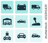 auto icons set. collection of... | Shutterstock .eps vector #631041635