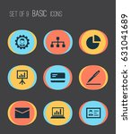 job icons set. collection of... | Shutterstock .eps vector #631041689