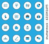 job colorful icons set.... | Shutterstock .eps vector #631041695