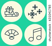 new year icons set. collection... | Shutterstock .eps vector #631041785
