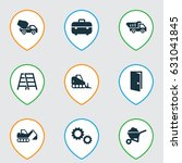 industry icons set. collection... | Shutterstock .eps vector #631041845