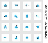 clothes colorful icons set.... | Shutterstock .eps vector #631041905