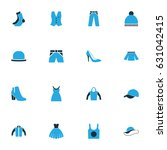 clothes colorful icons set.... | Shutterstock .eps vector #631042415